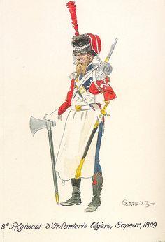 French; 8th Light Infantry, Sapper 1809