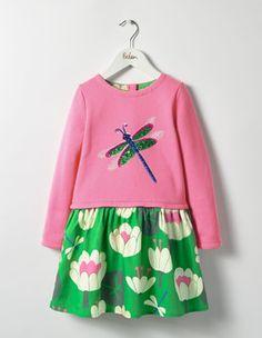 Kleid mit Pailletten-Applikation Boden