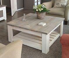 Steigerhout salontafel brocant grey/white op maat gemaakt door www. hetsteigerhouthuis.nl
