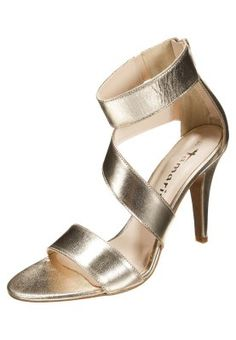 Sandales à talons hauts - gold Beige, Pumps, Coco Chanel, Or, Fashion Shoes, Personal Style, Heeled Sandals, Gowns, Silver