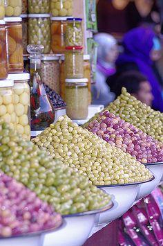 Olives in all colours, Morocco  | Maroc Désert Expérience | http://www.marocdesertexperience.com #maroc #morocco #marruecos #marocco