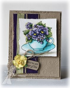 6/19/2013; Jen Shults for TE; Teacup Bouquet stamp set