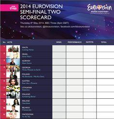 eurovision 2014 uk score