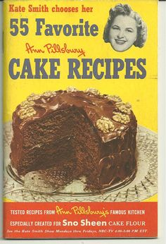 COLLECTIBLE Vintage Recipe CookBook1952 Kate Smith...did you ever see the size of Kate Smith.    these ain't diet recipes!
