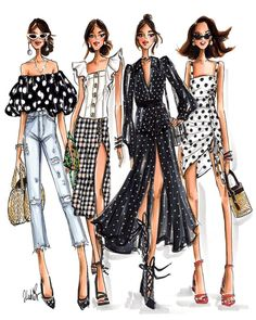 Fashion art illustration models Ideas for 2019 Fashion Design Sketchbook, Fashion Design Portfolio, Fashion Design Drawings, Fashion Sketches, Fashion Drawing Dresses, Fashion Illustration Dresses, Fashion Illustrations, Fashion Painting, Fashion Art