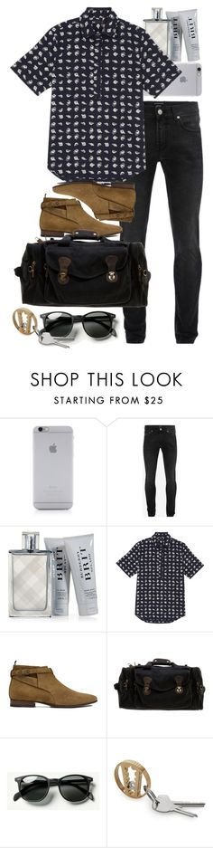 """""""Inspired by Harry."""" by nikka-phillips ❤ liked on Polyvore featuring Native Union, Alexander McQueen, Burberry, 3x1, Yves Saint Laurent, Rothco, Waverly, men's fashion and menswear"""
