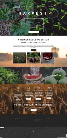 Template 61135 - Agriculture Company  Responsive Joomla Template