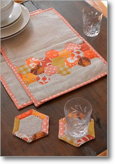 Sew Daily Hexagon placemat design