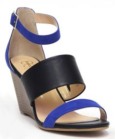 Dooballo Cobalt Blue Lizette Wedge Sandal by Dooballo #zulily #zulilyfinds