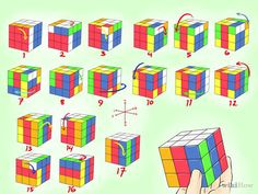 How to Make Awesome Rubik's Cube Patterns. Rubik's cubes are combination puzzles. The Rubik's cubes have nine faces on each side of the square cube and each face has one of six solid colors. Rubics Cube Solution, Rubiks Cube Patterns, Solving A Rubix Cube, Rubik's Cube Solve, Rubiks Cube Algorithms, Cube Design, Do It Yourself Crafts, Happy Diwali, Useful Life Hacks