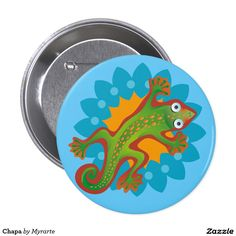 Lagarto verde. Lizard. Chapa, Button. Producto disponible en tienda Zazzle. Product available in Zazzle store. Regalos, Gifts. Link to product: http://www.zazzle.com/chapa_button-145554800345579683?CMPN=shareicon&lang=en&social=true&rf=238167879144476949 #chapa #button #lagarto #lizard