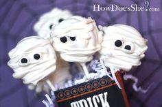 Oreo mummies for Halloween!