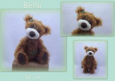 artist bear mohair and needle felted