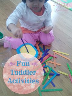 Fun and frugal activities for your toddler #homeschool #toddlers