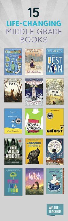 15 Life-Changing Middle Grade Books 15 Life-Changing Middle Grade Books Great story life lesson = 15 middle grade books worth checking out! The post 15 Life-Changing Middle Grade Books appeared first on School Ideas. Middle School Books, Middle School Libraries, Classroom Libraries, Elementary Library, Upper Elementary, Classroom Decor, Grade 8 Classroom, Middle School Literacy, Education Middle School