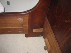 French Antique Sleigh Bed Mahogany 1901 Older | eBay