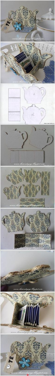 DIY Cardboard Tea Bag Holder                              …