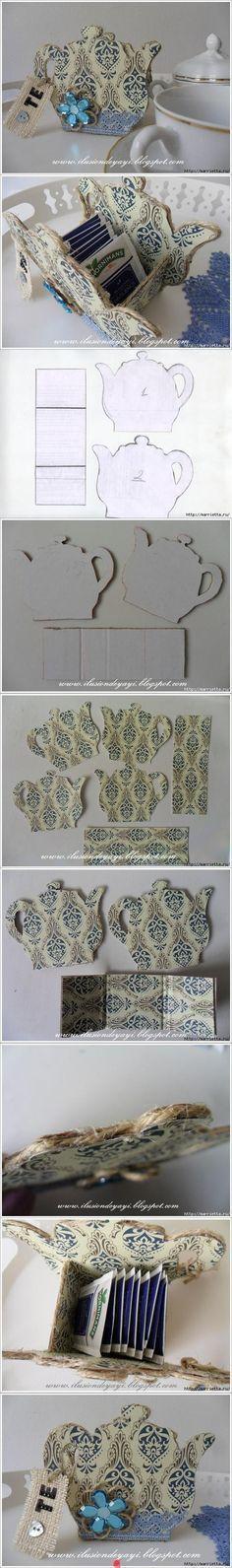 DIY Cardboard Tea Bag Holder                              …