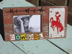 awesome signs! rustic cowgirl license plate frame by kevintharp on Etsy, $36.95