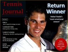Rafael Nadal graces the cover of Tennis Journal Magazine (2013 Nov/Dec issue).