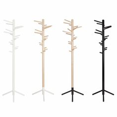 Artek Alvar Aalto 160 - Clothes Tree - Birch Designed by Anna Maija Jaatinen in this birch clothing rack stands on three metal legs and offers multiple places to hang purses, jackets and hats. Alvar Aalto, Finland, Birch, Feels, Casual, How To Make, Clothes, Design, Home Decor