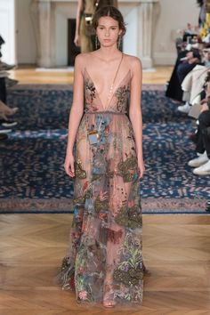 The Valentino collection drew inspiration from medieval art.