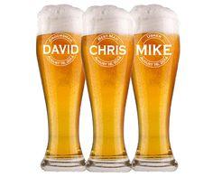 1 Groomsmen Pilsner Glass, Personalized Beer Glass, Beer Mug, Wedding Party Gifts, Gifts for Groomsmen, Engraved Glasses, Groomsmen Gift $11.00/Each