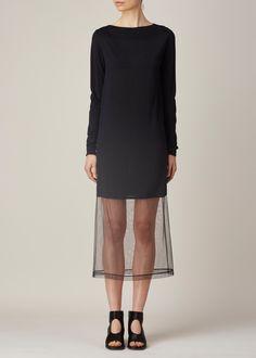 Totokaelo - Maison Martin Margiela Black Long-Sleeve Sweater Dress