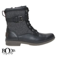 UGG KESEY BLACK BOOTS - WOMEN'S