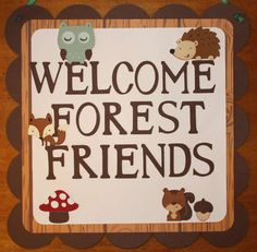 Forest Service Woodland Birthday Party Door Sign