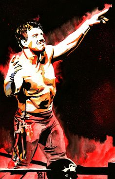 Eddie Guerrero - Ink, spray paint and watercolor on x watercolor paper Wrestling Posters, Wrestling Wwe, Wwe Funny Videos, Attitude Era, Wwe Raw And Smackdown, Top Tv Shows, Wwe Sasha Banks, Eddie Guerrero, Champs