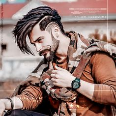 Mens Hairstyles With Beard, Funky Hairstyles, Haircuts For Men, Cute Couples Photography, Boy Photography Poses, Best Beard Styles, Hair And Beard Styles, Beard Logo, Boys Fall Fashion