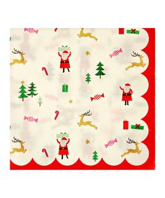 definitely wishing this was fabric for a Christmas quilt! (it's a paper napkin design)