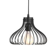 Filament Design, Sundry 1-Light Black Incandescent Pendent, 821237 at The Home Depot - Mobile