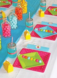 sugar rush party ideas | Colorful gumball tube party favors that coordinate perfectly with ...