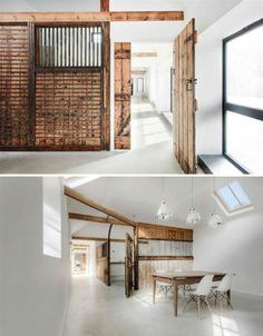 Wood Contrasts with White in Converted Stable House | Designs & Ideas on Dornob