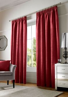 Chenille Plain Lined Tape Top Curtain Plain, Plain Curtains, Curtains, Home, Beautiful Windows, Home Decor