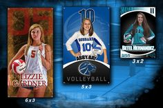 Does your senior volleyball players or your varsity volleyball team have a banner in the gym for all the school, parents, and visitors to see?  Want to recognize your senior volleyball players or your volleyball team for all their hard work?  Want to help spice up your gym with a cool looking banner of your seniors or your team to show off your school spirit? Give your players the gift of a lifetime and something they can have as a keepsake for years to come. Memories made special…forever!