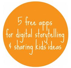 5 free apps for digital storytelling and sharing kids' ideas. I love apps for digital storytelling with kids. So great for language development and development of story structure. Digital Literacy, Digital Storytelling, Teaching Technology, Educational Technology, Instructional Technology, Instructional Strategies, Technology Integration, Teaching Reading, Teaching Resources