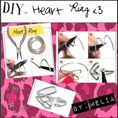 """""""DIY- Heart Ring"""" by tipgirlsofpolyvore ❤ liked on Polyvore"""