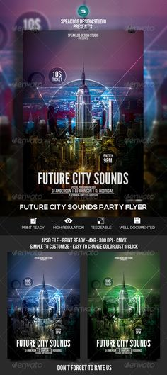 Future City Sound Flyer Template PSD | Buy and Download: http://graphicriver.net/item/future-city-sound-flyer/8514755?WT.ac=category_thumb&WT.z_author=speaklog&ref=ksioks