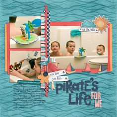 3 image digital scrapbooking layout. credits: Sail the 7 Seas by Heather Roselli, Alpha Files number 18 by Krystal Hartley