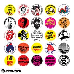 Small Blitzkrieg Buttons - Currency from Trash Island - Bathroom Graffiti, Bottle Cap Crafts, Bottle Caps, Brand Stickers, Glass Magnets, Creepy Clown, Bottle Cap Images, Biker T Shirts, Pocket Letters
