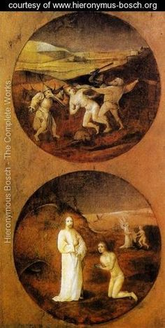 Mankind Beset by Devils (reverse of Noah panel) 1500-04 - Hieronymous Bosch - www.hieronymus-bosch.org