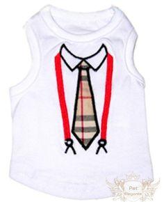 Camiseta Regata Branca - Estampa Gravatinha