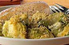 Creamy Cheesy Brussels Sprouts au Gratin
