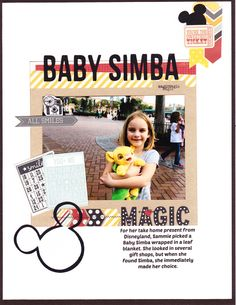 Baby Simba - Scrapbook.com - Made using Simple Stories Say Cheese collection.
