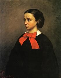 Portrait of Mlle. Jacquet  Gustave Courbet