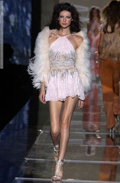 Caitriona Balfe for Roberto Cavalli runway (Spring-Summer 2004)