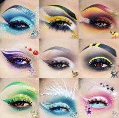 Le maquillage Pokémon GO a atterriYou can find Character makeup and more on our website.Le maquillage Pokémon GO a atterri Dramatic Eye Makeup, Eye Makeup Art, Colorful Eye Makeup, Beautiful Eye Makeup, Media Makeup, Awesome Makeup, Halloween Eye Makeup, Maquillage Halloween, Anime Make-up